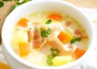 ベーコンと野菜のミルクスープ(シチュー)