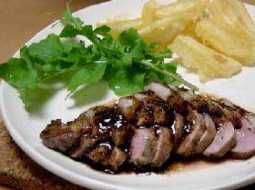 美味~っ(~o~) 鴨のバルサミコソース