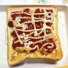 オキアミのピザ風トースト