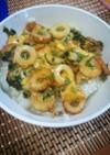 ちくわ小松菜の卵とじ丼