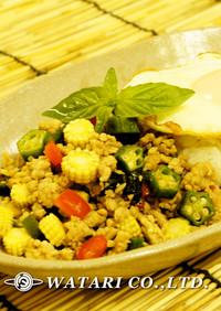 ガパオライス◇鶏肉のタイ風バジル炒めご飯