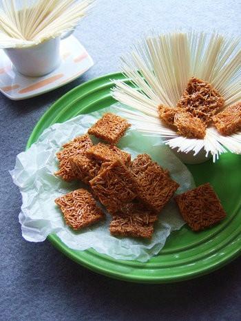 ザクザク食感♡塩キャラメル素麺!