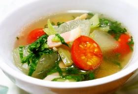 ◆さっぱり!冬瓜とトマトの野菜スープ◆