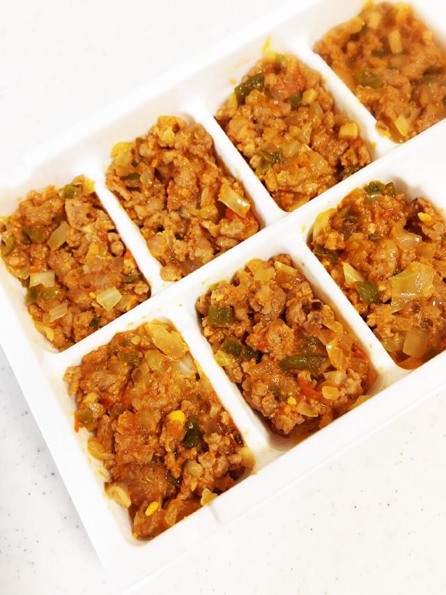 離乳食後期に…豚ひき肉と野菜〜トマト味〜