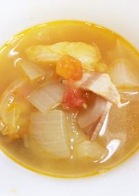 夏に最適さっぱり白だしスープ