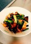 豚キムチ + ナスの炒め物