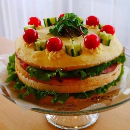 サンドイッチケーキ*基本のパン生地から