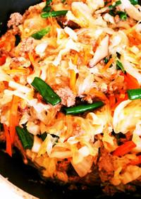 春雨と牛ひき肉の野菜炒め(実家レシピ)
