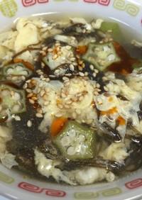 簡単‼市販のもずく酢でスープ