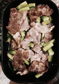 簡単自宅ダッチ!豚バラ肉とアスパラガス
