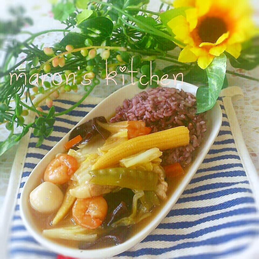 余った野菜炒めで簡単♡中華丼