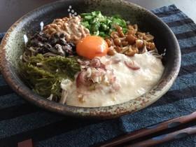 簡単ネバネバ蕎麦
