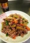 豚肉と夏野菜のスタミナ源たれ炒め