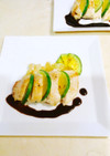 カジキ&ズッキーニのバルサミコソース