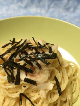 簡単お店の味☆たらことイカのスパゲッティ