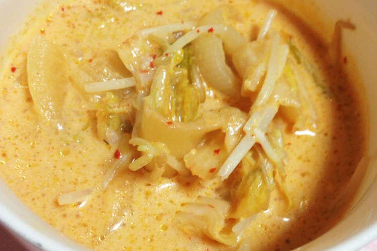 豆乳 キムチ スープ