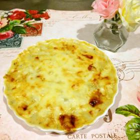 緑黄色野菜とポテトのグラタンスープ
