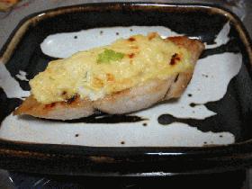 切り身魚(鰆)のネギ味噌ソたれ