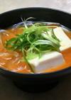 豆腐とくずきりのチゲ