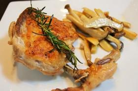 オリーブオイルで鶏肉のコンフィ