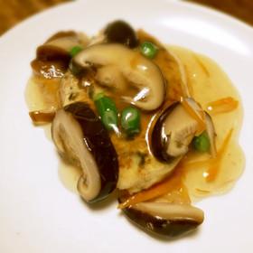 切干大根ときくらげの和風豆腐ハンバーグ
