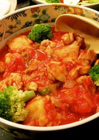 鶏もも肉のプリプリトマト煮 糖質オフ