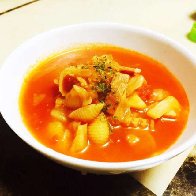 トマト缶で簡単ミネストローネ★ダイエット