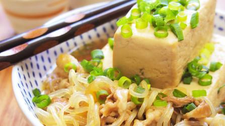 居酒屋風*昔ながらの豚しゃぶ肉豆腐