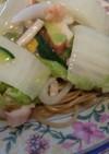中華麺風・魚貝のあんかけ焼きそば