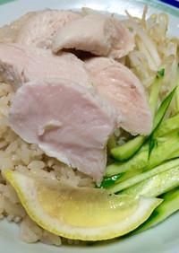 俺流!経済的…鶏ささ身肉で南海鶏飯