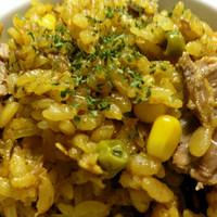 サバ缶のカレー風味・炊き込みご飯✾
