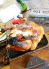 チキンの丸焼き(ビア缶使用)