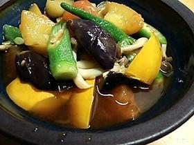 ストック野菜で和風ラタトゥイユ
