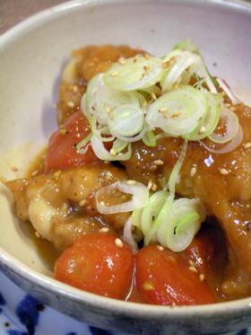 鶏手羽元とミニトマトの甘辛煮♪
