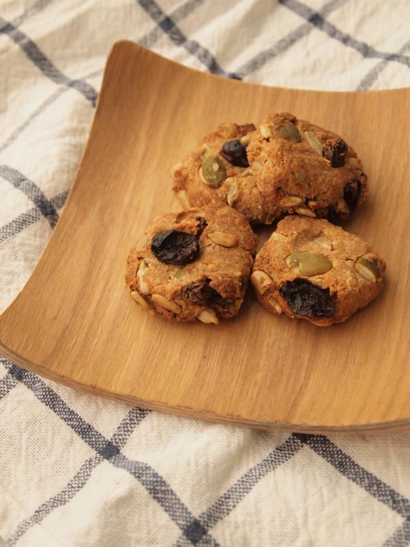 ゆるマクロビ♪おからと全粒粉のクッキー
