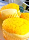桃缶とHMで簡単カップケーキ