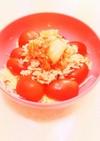 キャベツツナトマトキムチサラダ