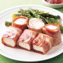 豆腐のベーコン巻き