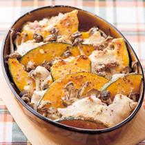 ささ身とかぼちゃのマヨチーズ焼き