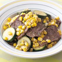 牛肉と夏野菜の蒸し焼き