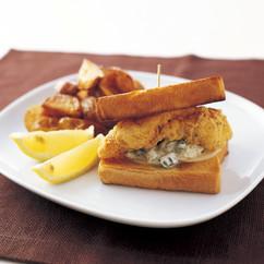 魚のフライ サンドイッチ