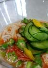 シャーベットトマトの素麺