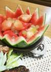 デザートに夏フルーツ盛り合わせ