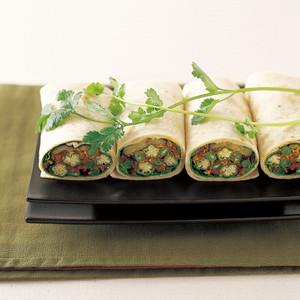オクラ&レンズ豆カレーのラップ