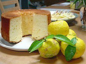 柚のシフォンケーキ