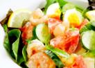 海老・トマト・ゆで卵のデリ風サラダ