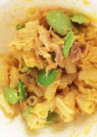 離乳食後期★裏ごしコーンのマカロニサラダ