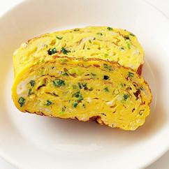しらすとねぎの厚焼き卵