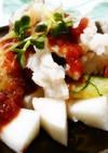 ◆ふわシャキ♪鱧と長芋の梅肉ソース◆
