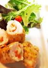 チーズ入り♡鶏ササミの野菜巻きピカタ